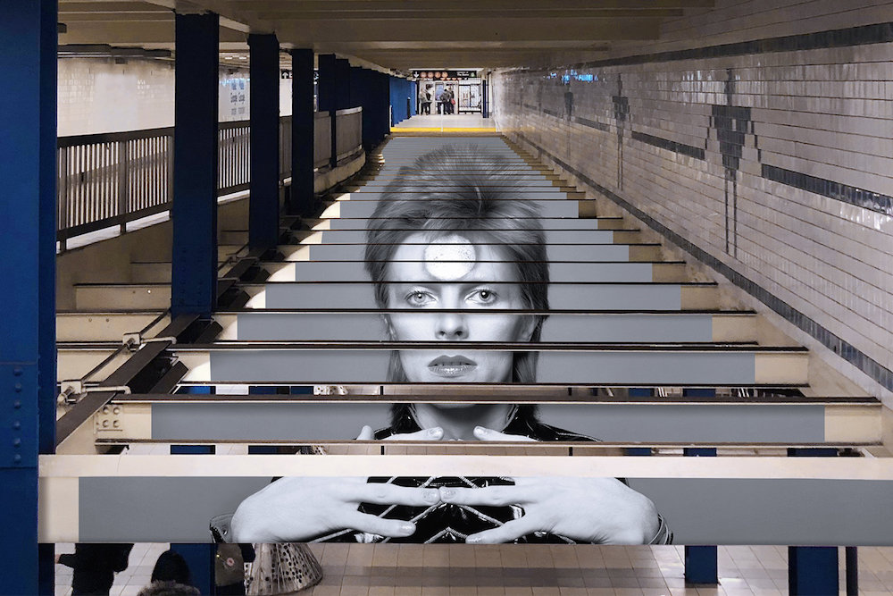 Spotify's Subway Takeover Welcomes NYC Into The World Of David Bowie