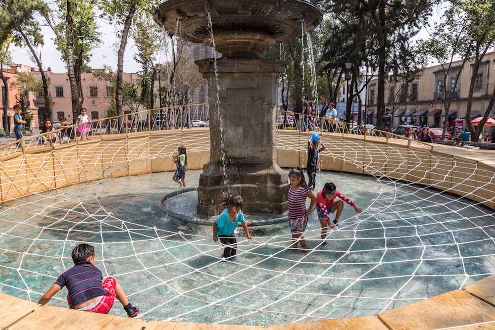 Fountain-Turned-Playground In Mexico City Shows Experiential Uses For Outdoor Space