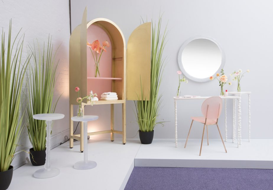 Glossier's Empty Beauty Bottles Become A Furniture Collection