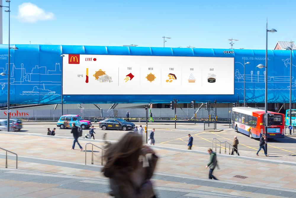 McDonald's Presents Weather News As Menu Emojis