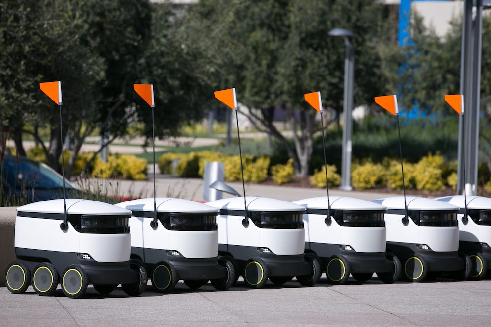 First Robot Delivery Drivers Start Work In Silicon Valley