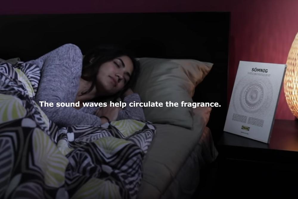 IKEA's Sleep-Inducing Print Ad Emits White Noise And Lavender