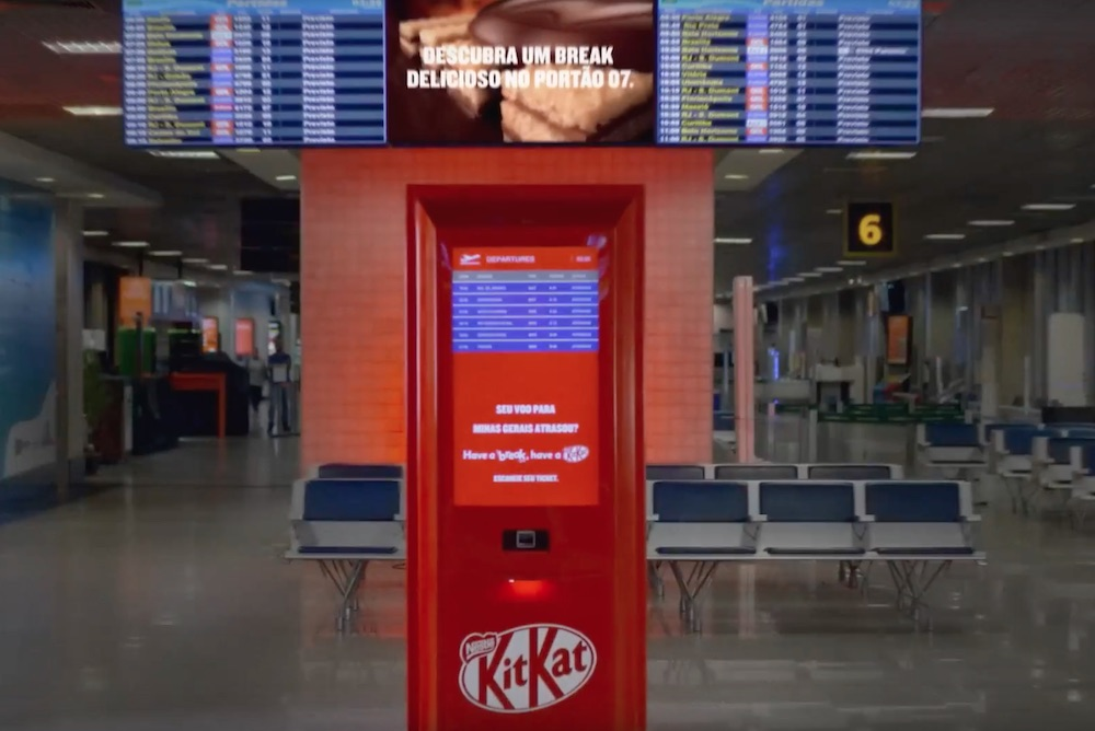 Kit-Kat Helps Mitigate Delayed Travelers' Woes With Free Candy