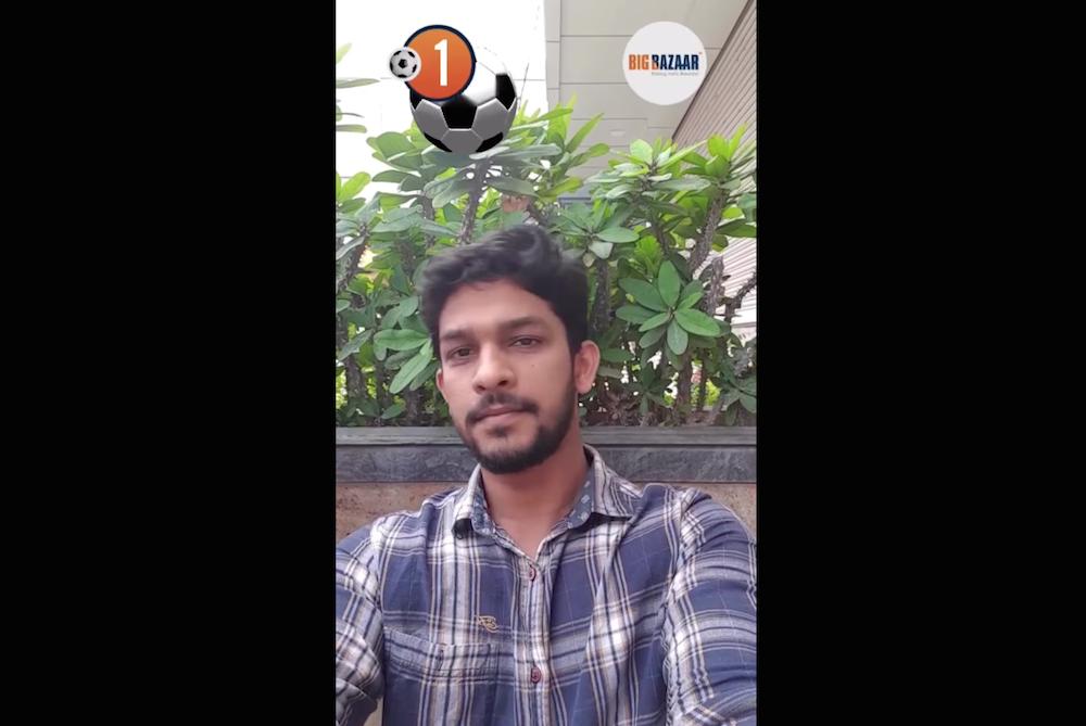Big Bazaar's AR Facebook App Lets FIFA Fans Balance Balls On Their Heads