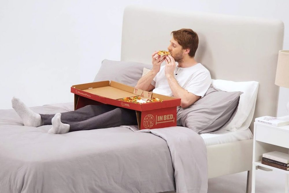 Pizza Chain Creates A Box That Transforms Into A Bed Tray