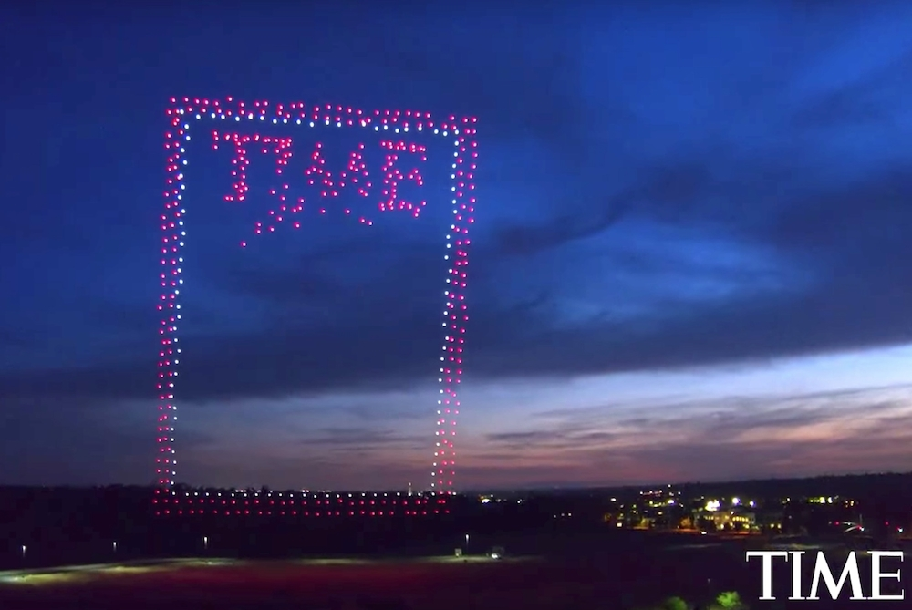 Time Magazine Created A Floating Cover Composed Of 958 Drones