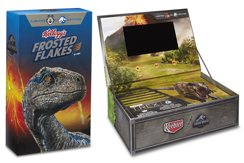 Kellogg's Is Promoting Jurassic World With Video-Display Boxes