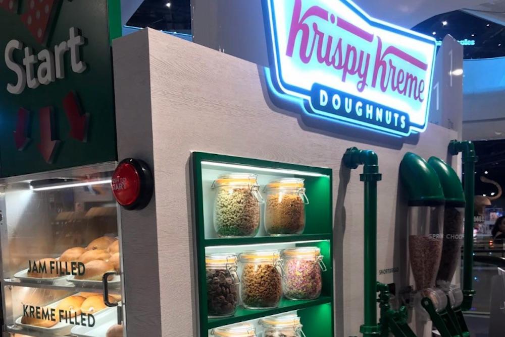 Krispy Kreme Kiosk Lets U.K. Mall Shoppers Make Their Own Donuts