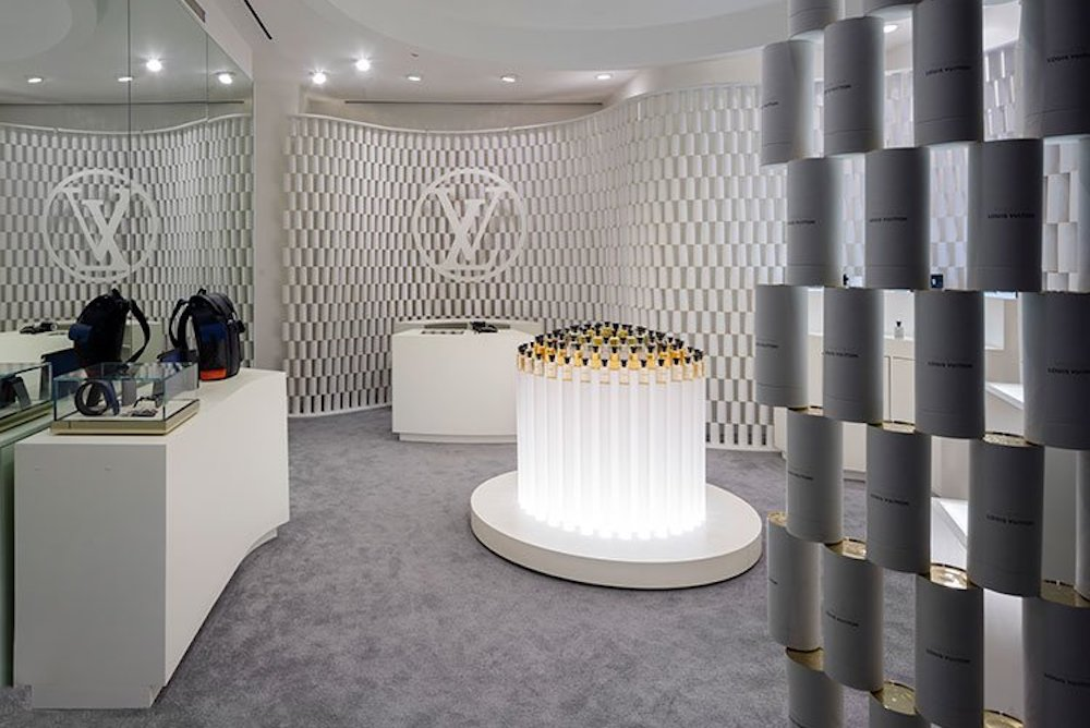 Louis Vuitton Celebrates Men's Fragrance Line With A Pop-Up Made Of Packaging