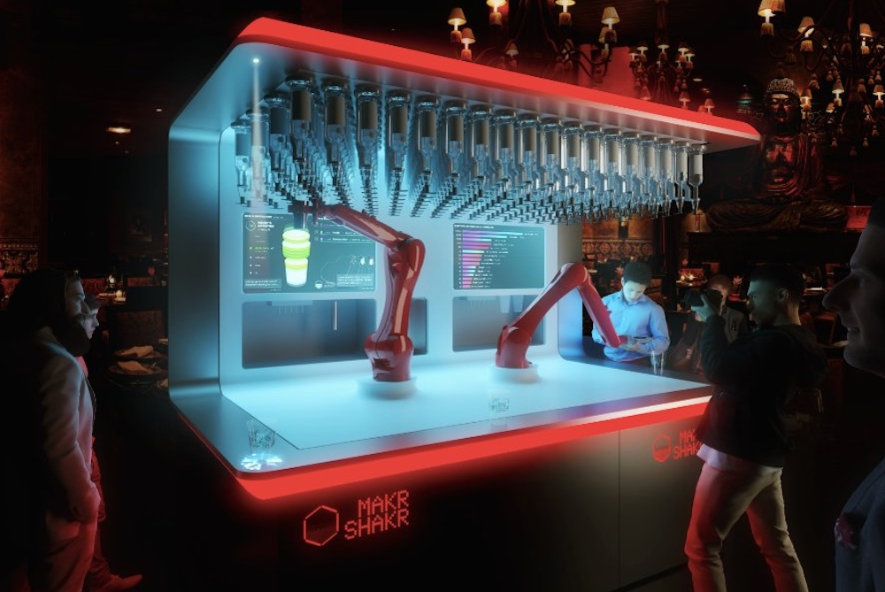 Customers Design Their Own Cocktails With App-Controlled Bartender Robot