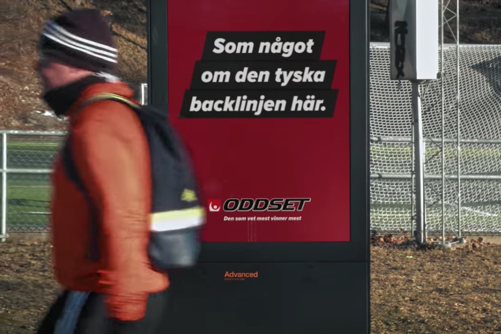 Betting Company's Ads Let Viewers Communicate With Sweden's World Cup Coach