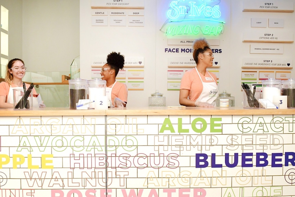 St. Ives Beauty Bar Lets Shoppers Mix Their Own Custom Skincare Products