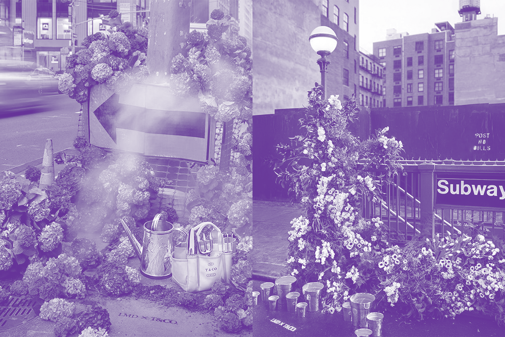 Tiffany & Co.'s Flash Flower Arrangements Bring Lushness To City Streets