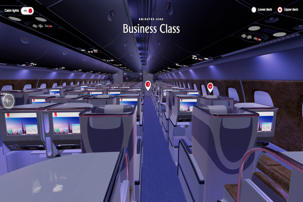 Emirates Flyers Can Book Their Seats From Within A Virtual First-Class Cabin