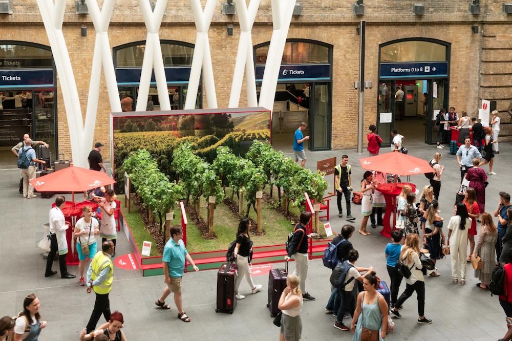 Pop-Up Vineyard Surprises London Train Commuters With Wine