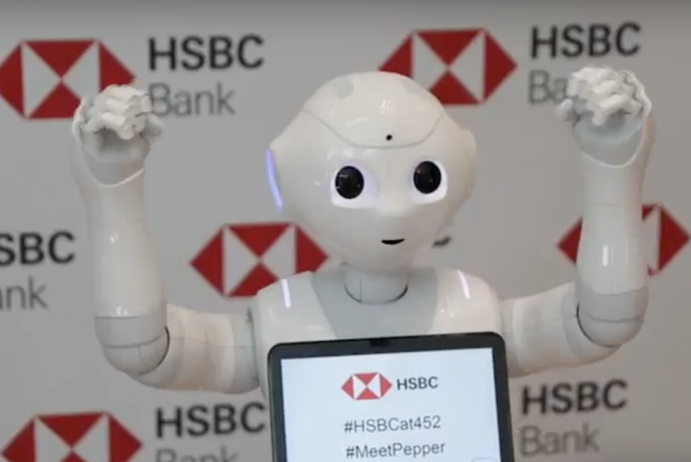 HSBC Enlists A Robot Greeter As Part Of A Branch Banking Redesign