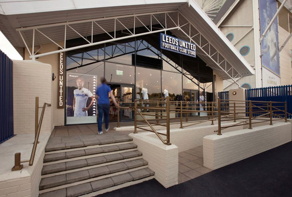 Leeds Soccer Club Unveils Experiential Flagship Store Complete With LED Goalpost Display