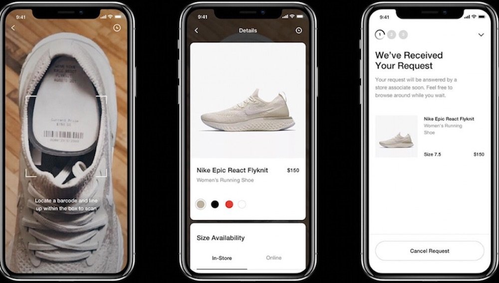 Nike Shoppers Can Forgo Sales Associates And Scan Barcodes Of Any Shoe To Try On