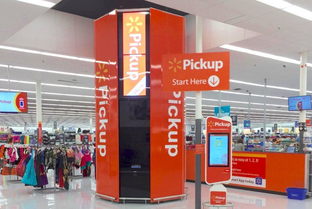 Walmart Shoppers Can Pick Up Pre-Packed Groceries Upon A Barcode Scan