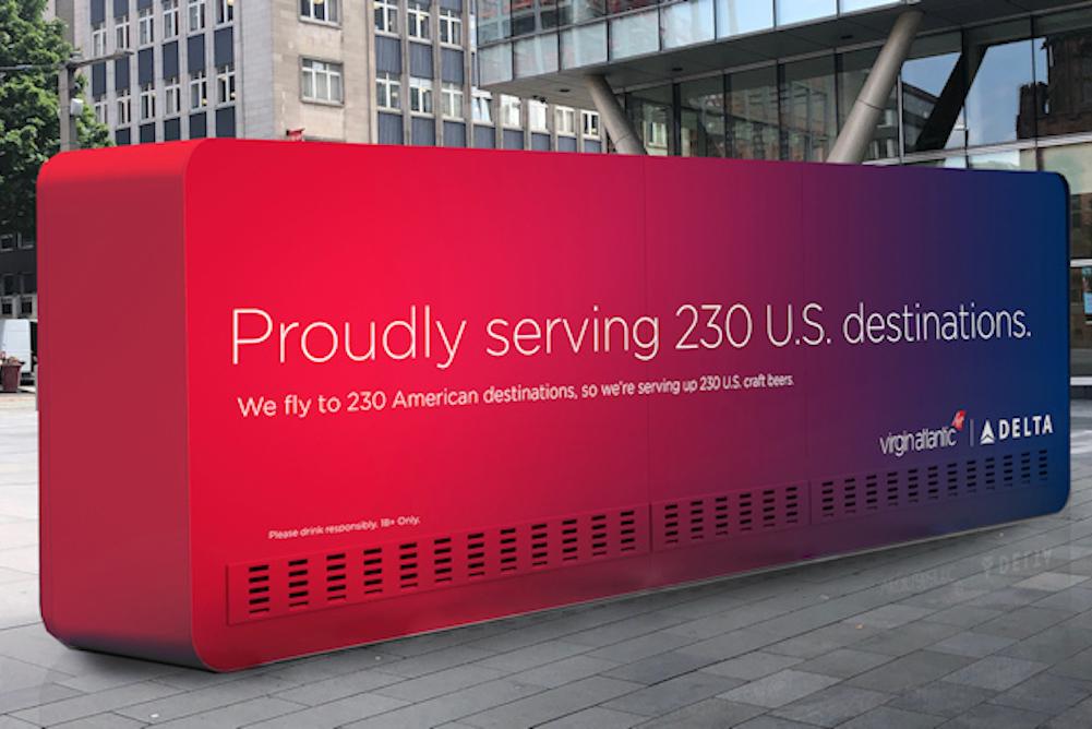 Delta And Virgin Atlantic's Beer Vending Machine Offers Customers 230 Flavors