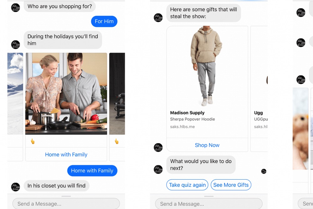 Holiday Shoppers Can Use Saks' Facebook Chatbot To Find The Perfect Gift