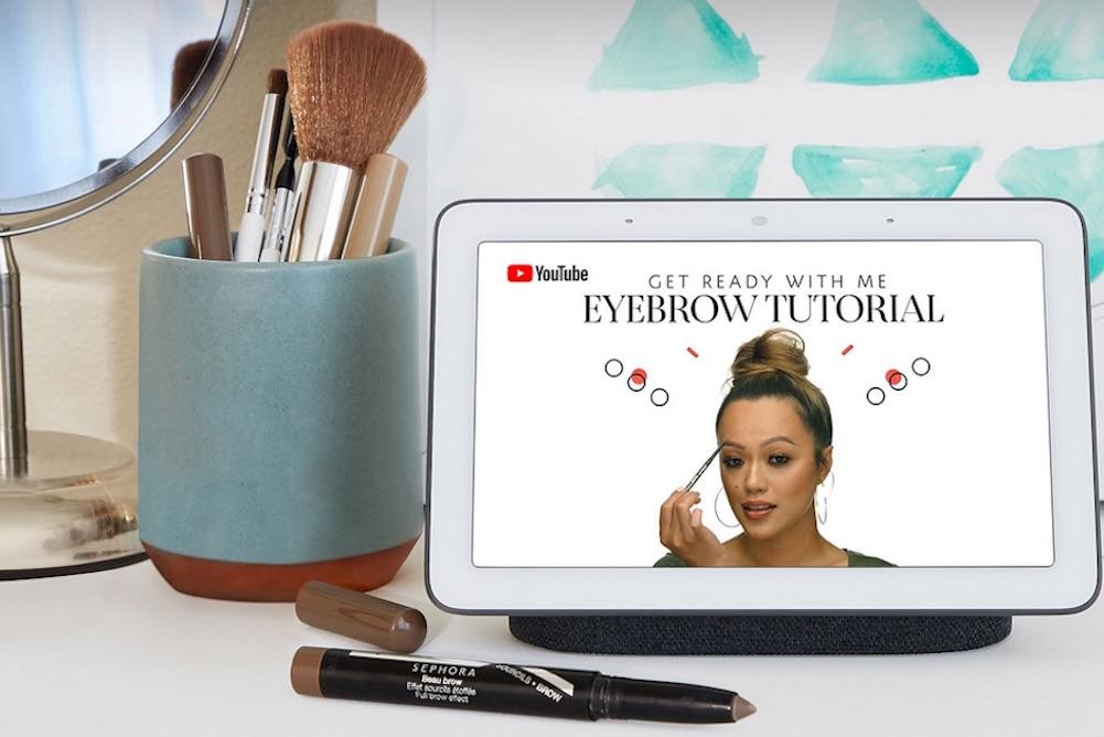 Google's Home Hub Lets Sephora Fans Watch Makeup Tutorials On Their Vanity