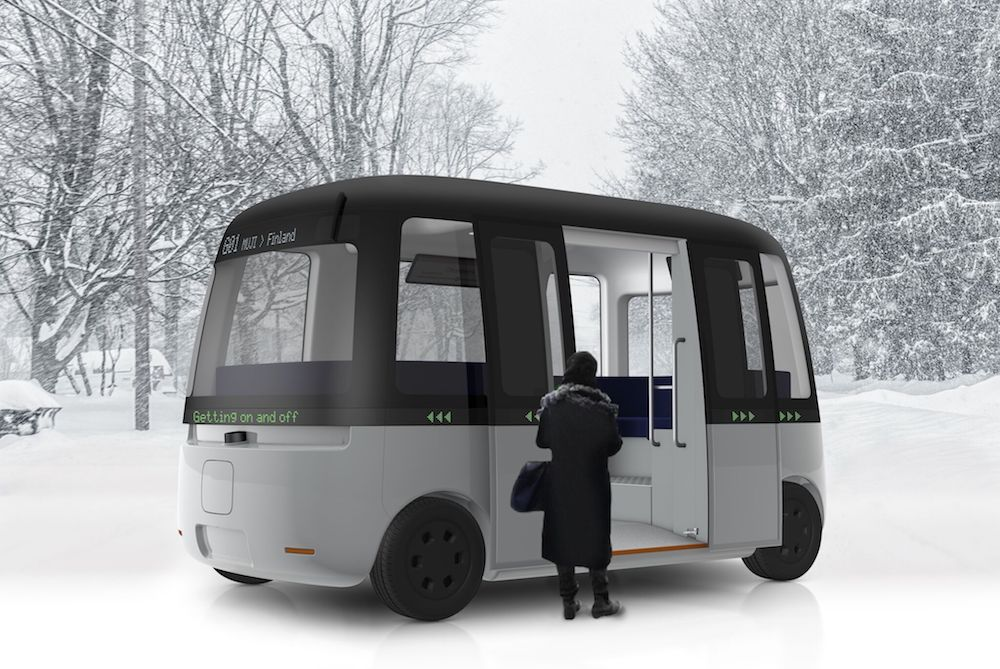 Muji Helped Design A Weather-Proof Autonomous Shuttle Bus
