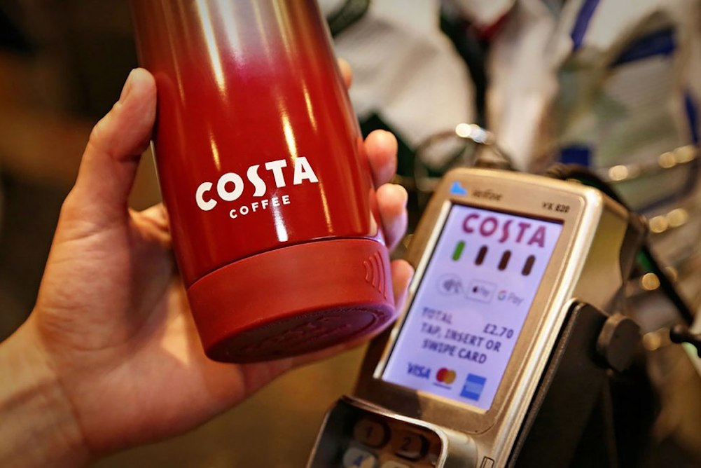 Costa's Chip-Enabled Coffee Cup Lets Customers Pay Without Cash Or Card