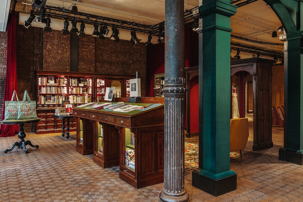 Visitors To Gucci's SoHo Store Can Peruse Its Book And Magazine Shop
