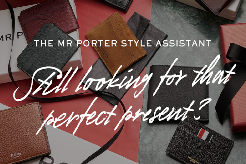 MR PORTER Is Using Facebook Messenger To Help Shoppers Choose Gifts