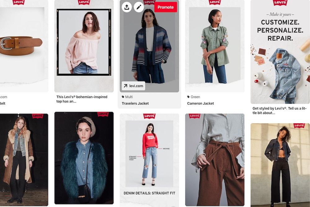 Levi's Customers Can Create Customized, Shoppable Pinterest Boards
