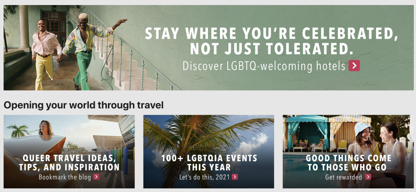 Orbitz Worldwide microsite dedicated to sourcing inclusive travel destinations