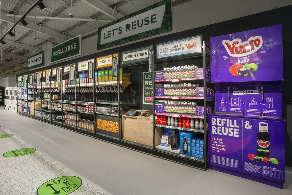 Supermarket Chain Asda Trials Package Free Sustainable Store